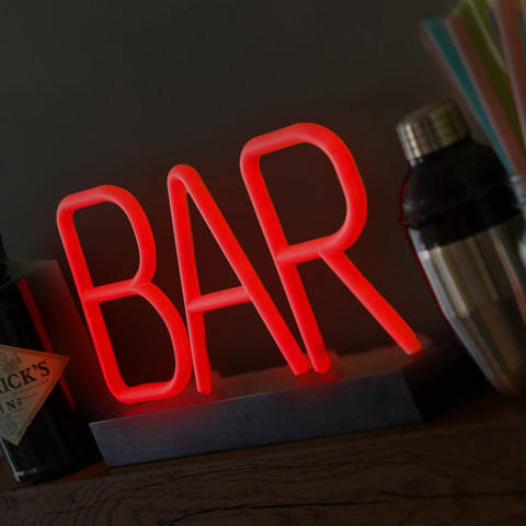 Light up neon bar sign - gifts for him