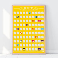Scratch Off Bucket List Poster 100 Cheeses