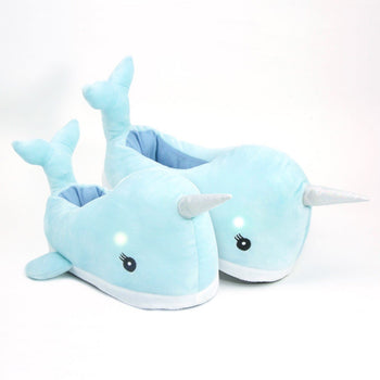 Narwhal Light Up LED Slippers Adult