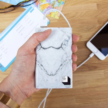 Marble Power Bank White