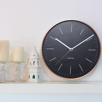 Karlsson Minimal Black Wall Clock