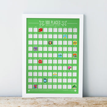 Scratch Off Bucket List Poster 100 Places