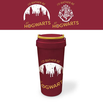 Harry Potter Eco Travel Mug I'd Rather Be At Hogwarts