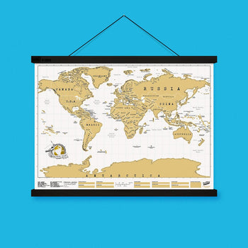 Luckies Hang! Hanging Magnetic Poster & Scratch Map Frame