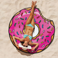 Frosted Donut Beach Blanket