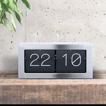 Karlsson XL Steel Flip Clock