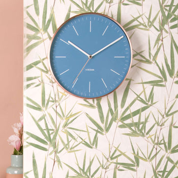 Karlsson Minimal Blue Wall Clock