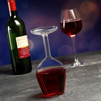 Upside Down Wine Glass