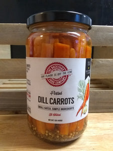 Carrots dill pickled- Backyard Foods 16oz.