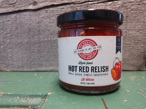Relish, hot or sweet red NEW! 7.5 oz.