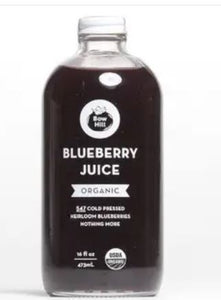 Blueberry juice, certified organic, 16 oz.