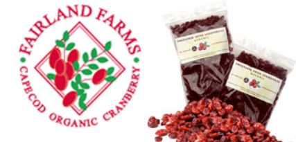 Cranberries, organic, juice sweetened 1/2# or 1# bag