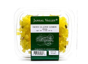 Lemon Peel, diced, glazed 6 oz pack