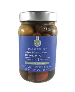 Olives,whole, Mediterranean mix 16oz.