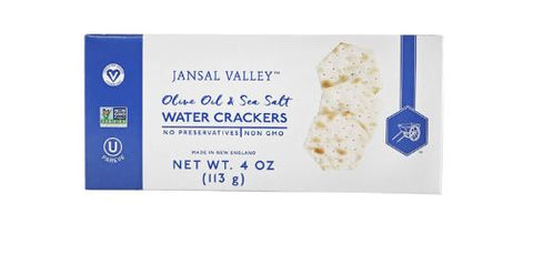 Crackers, olive oil & sea salt, 4oz box.