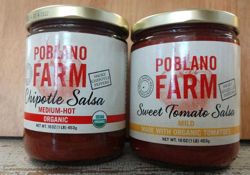 Salsa, Poblano Farms NEW! 2 flavors 16 oz jar.