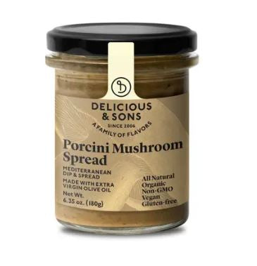 Mushroom Spread, Porcini, Delicious & Sons, certified organic, 6.35 oz/180g.