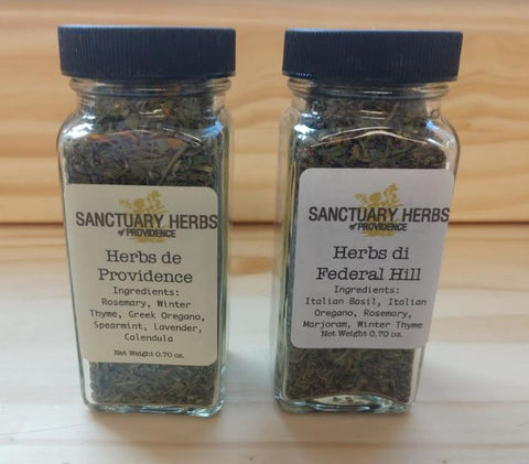 Herbs & herb blends blends, local, dried from Sanctuary Herbs .70 oz.