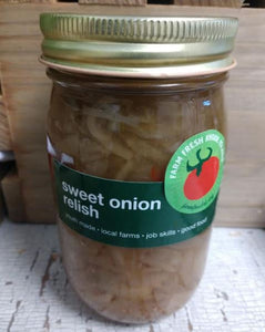 Relish, sweet onion, NEW! 16oz.