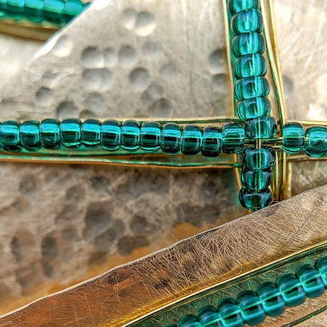 Brass and Glass Close-Up