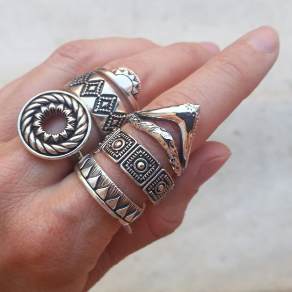 Stacking Up Navona Handmade Sterling Silver Rings
