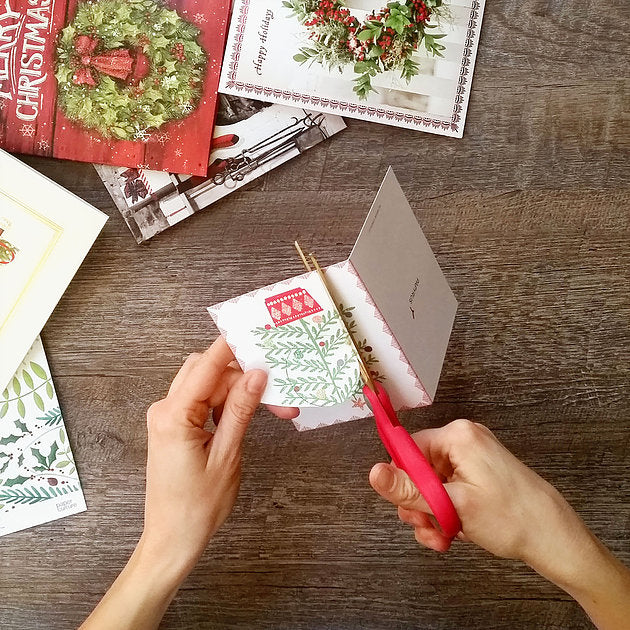 How To Repurpose Christmas Cards