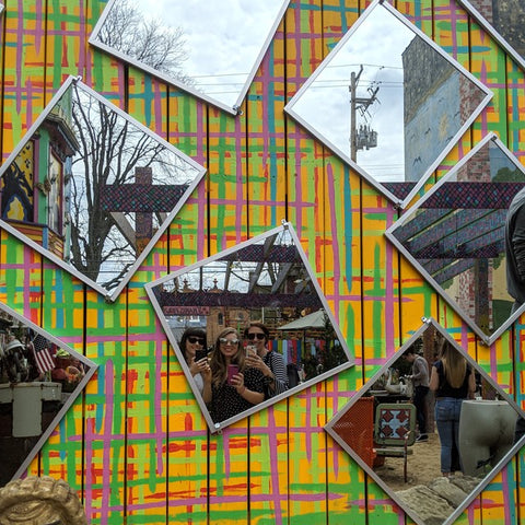 Navona Handmade - Selfies at the Mirror Wall in Randyland