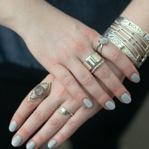 Navona Handmade and Christine Alaniz Designs sterling silver rings