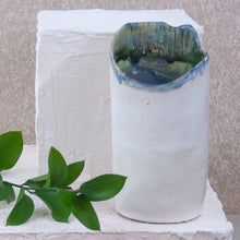 Load image into Gallery viewer, handmade pottery wine chiller inspired the oregon coast
