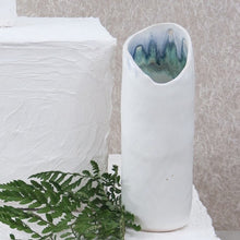 Load image into Gallery viewer, white stoneware vase