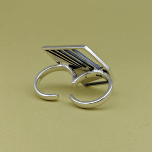Wright Stairway Two Finger Ring
