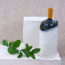 Load image into Gallery viewer, handmade white stoneware wine chiller