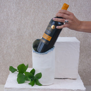 handmade ceramic wine chiller