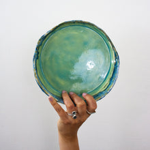 Load image into Gallery viewer, teal green handmade plate
