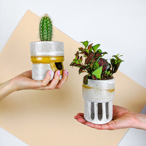 indoor flower pot that doesn't require a saucer