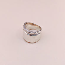 Load image into Gallery viewer, Transit Sterling Silver Wide Hammered Minimal Ring