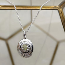 Load image into Gallery viewer, Oval Spiral Sapphire Pendant
