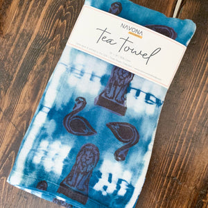 Art Garden Tea Towel - Indigo