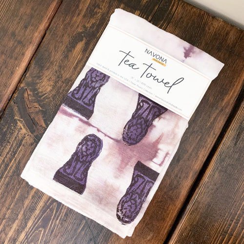 Art Garden Tea Towel - Dusty Purple