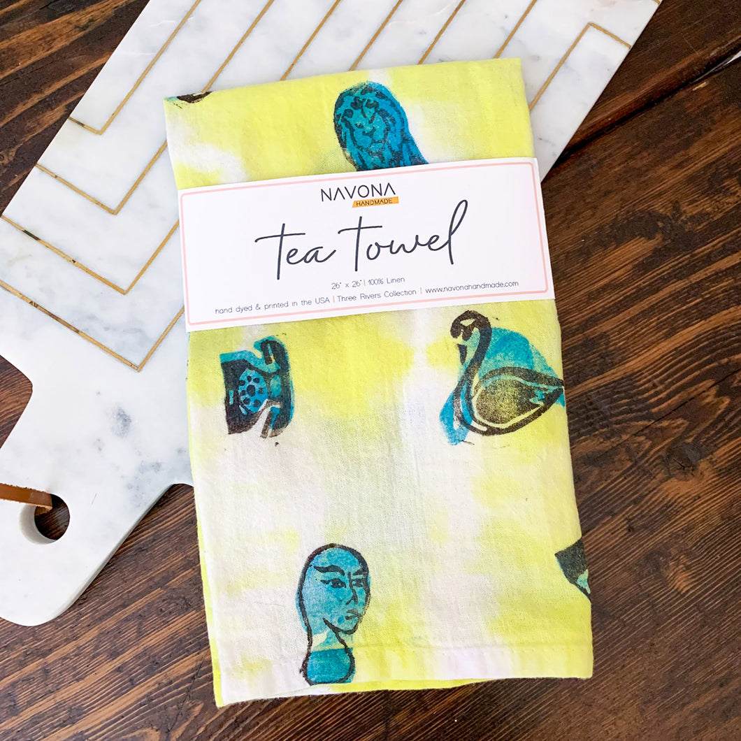 Art Garden Tea Towel - Yellow