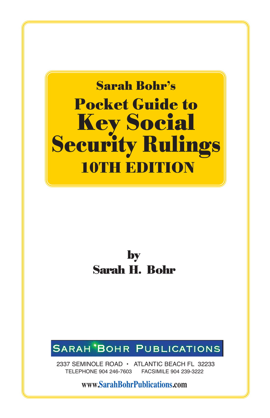 Pocket Guide to Key Social Security Rulings 10th Edition (Digital Download)