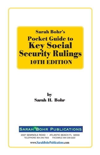 Pocket Guide to Key Social Security Rulings 10th Edition (Digital Download + Physical Book)