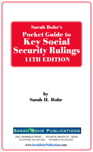 Pocket Guide to Key Social Security Rulings 11th Edition (Digital Download)