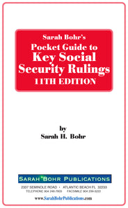 Pocket Guide to Key Social Security Rulings 11th Edition (Digital Download + Physical Book)