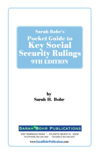 Pocket Guide to Key Social Security Rulings 9th Edition (Digital Download)