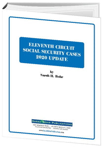 11th Circuit Social Security Case 2020 Update (Digital Download)
