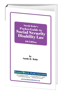 Pocket Guide to Social Security Disability Law 6th Edition (Digital Download + Physical Book)