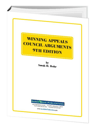 Winning Appeals Council Arguments 9th Edition (Digital Download + Physical Book)