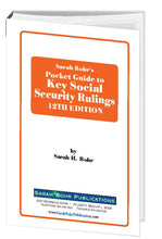 Load image into Gallery viewer, Pocket Guide to Key Social Security Rulings 12th Edition (Digital Download)