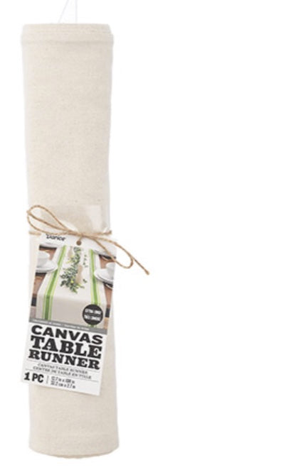 Darice Natural Canvas Table Runner 108 in.